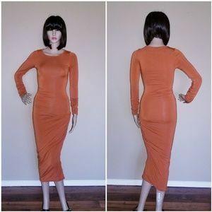 "MARCIANO ""Autumn Rust"" Dress"